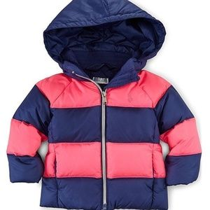Ralph Lauren Coat Baby Girl Down Puffer Jacket NB